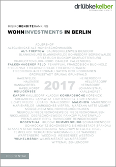 Risiko-Rendite-Ranking 2017 Berlin, Analyse aller 96 Stadtteile Berlins - Dr. Lübke & Kelber Research